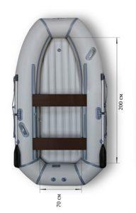 Лодка ПВХ Флагман 280 HT НДНД надувная гребная