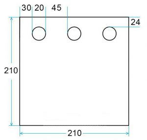 Фото Дно гидроизоляционное Лотос Куб 3 (210×210) с отверстиями под лунки